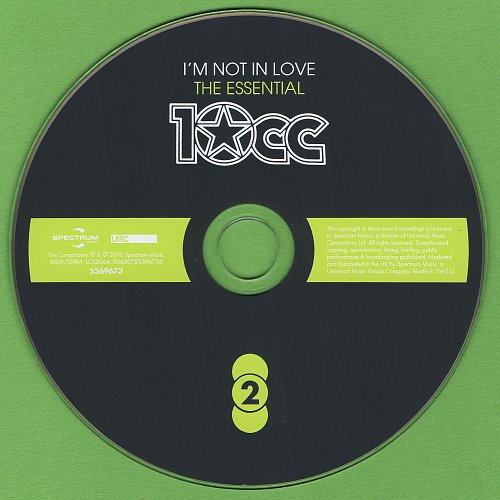 10CC - I'm Not In Love. The Essential (2016)