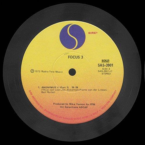 Focus - Focus 3 [ Sire  SAS 3901 ] (1971) 2 LP