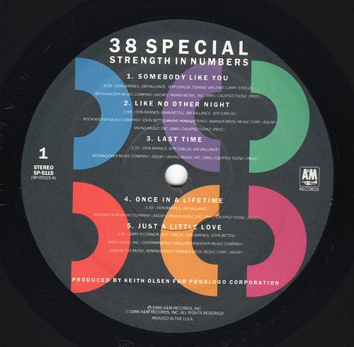 38 Special - Strength In Numbers (A&M, SP-5115] (1986)