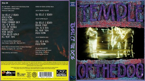 Temple Of The Dog - Temple Of The Dog Blu-Ray Audio