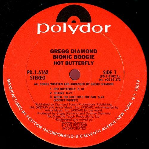 Gregg Diamond Bionic Boogie - Hot Butterfly (1978)