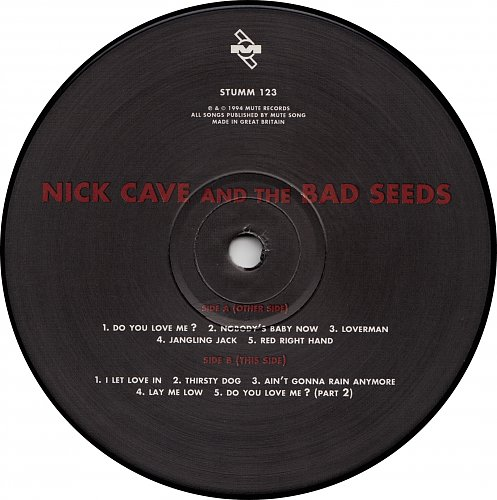 Nick Cave And The Bad Seeds - Let Love In [Mute # STUMM 123] (1994) [Original UK Press]