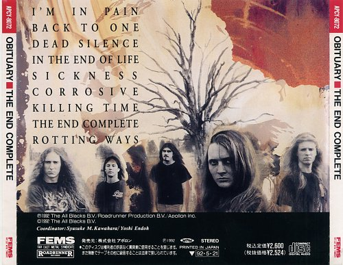 Obituary - The End Complete (1992) Japan