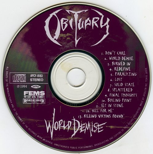 Obituary - World Demise (1994) Japan