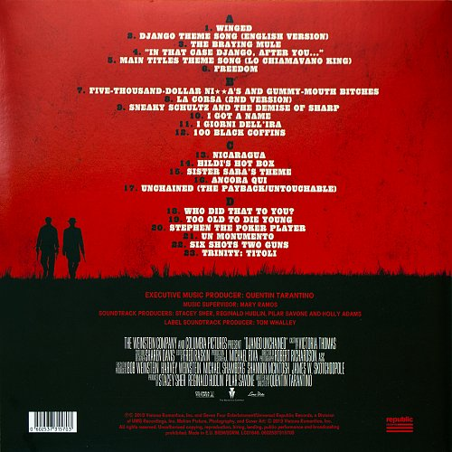 Various Artists - Django Unchained: Original Motion Picture Soundtrack (2012) 2 LP