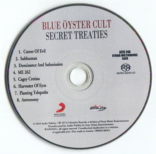 Blue Oyster Cult - Secret Treaties (1974)(2016 Remaster Blu-Ray Audio