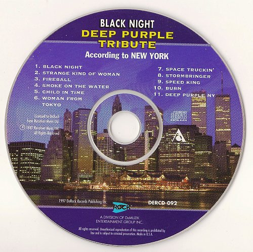 VA - Black Night - Deep Purple Tribute. According To New York (1997)