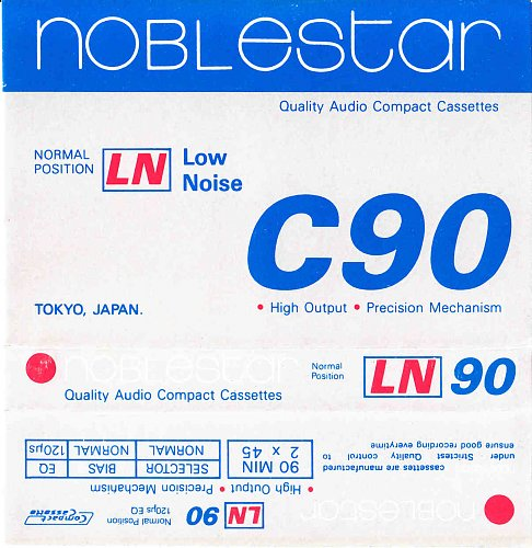 Аудиокассета noblestar C90