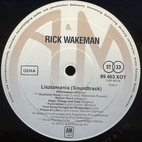Rick Wakeman - Lisztomania / Листомания (1975)