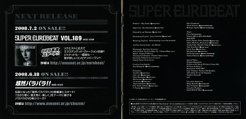 Super Eurobeat Vol. 188 (2008)