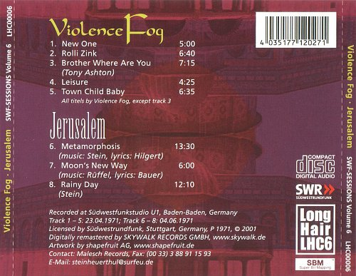 Violence Fog & Jerusalem - SWF-Sessions Volume 6 (1971)