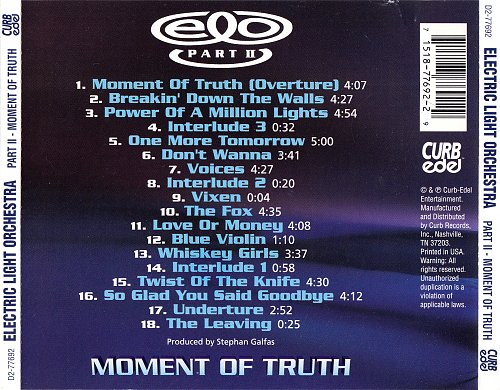 Electric Light Orchestra Part Two - Moment Of Truth (1994)