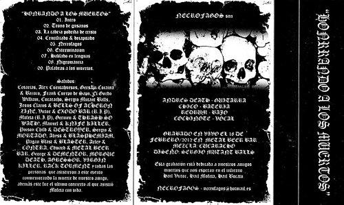 Necrofagos - Honrando A Los Muertos (2012 Hellbenller Records, Colombia)