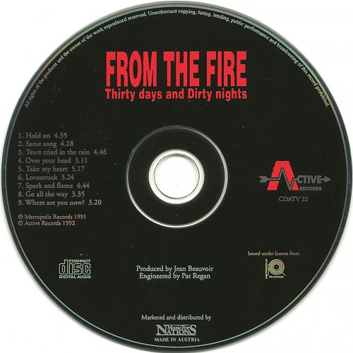 From The Fire - Thirty Days And Dirty Nights (1992)