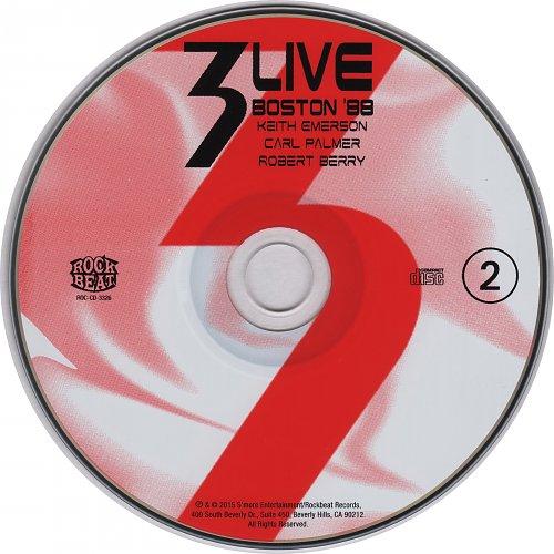 3 (Emerson, Berry & Palmer) - Live in Boston '88 (2015)