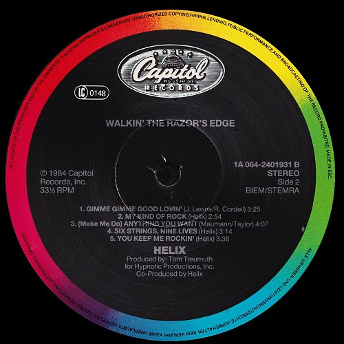 Helix - Walkin' The Razor's Edge (1984)