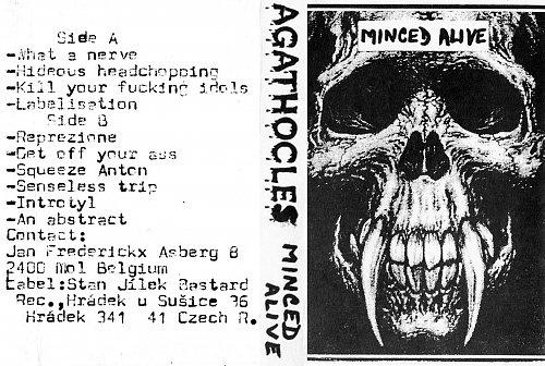 Agathocles - Minced Alive (1996 Bastard Records, Czech Republic)