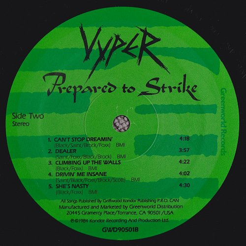 Vyper - Prepared To Strike (1984)