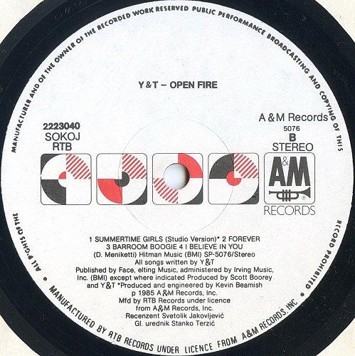 Y & T - Open Fire (1985)