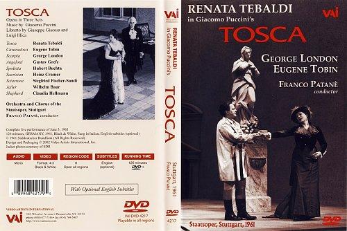 """Renata Tebaldi - In Giacomo Puccini's """"Tosca"""" / Рената Тебальди в опере """"Тоска"""" (1961)"""