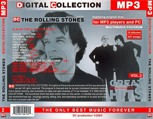Rolling Stones - Digital Collection Mp3, 2004