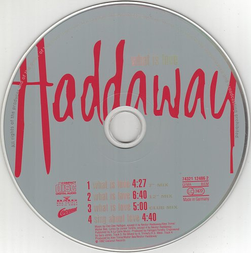 Haddaway - What Is Love (CDM) (1992)