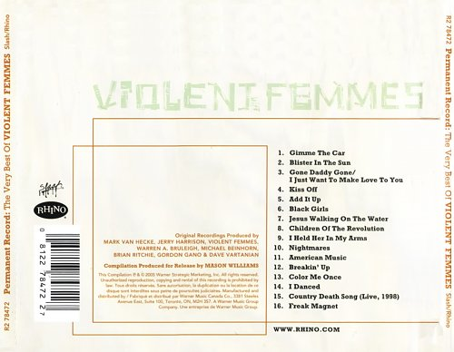 Violent Femmes - Permanent Record: The Very Best Of Violent Femmes (2005)