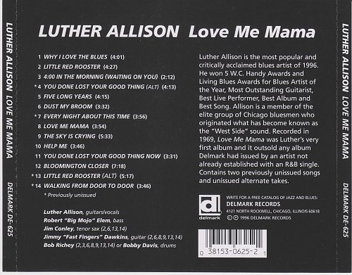 Luther Allison - Love Me Mama (1969)