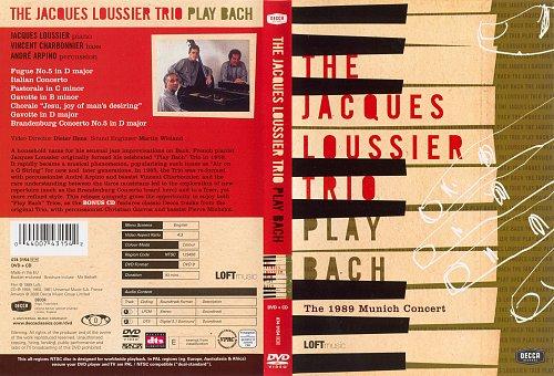 Jaques Loussier Trio - Play BACH. Munich Concert (1989)