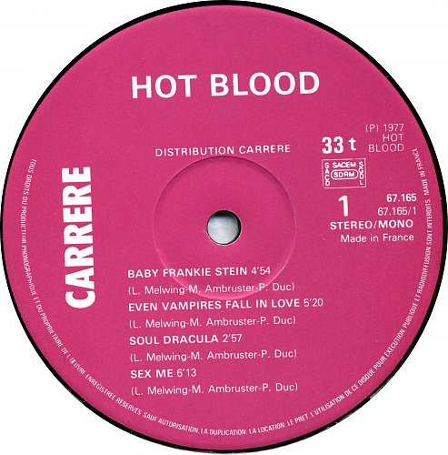 Hot Blood - Dracula And Co (1977).