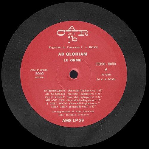 Le Orme - Ad Gloriam - 1968 (Reissue 2010)