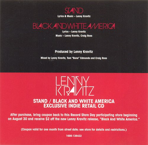 LENNY KRAVITZ - Stand bw Black And White America (2011)