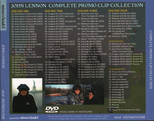 John Lennon - Complete Promo Clip Collection (2016)