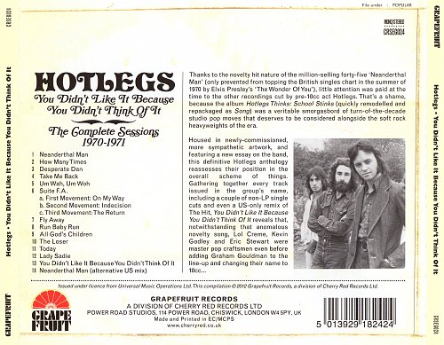 Hotlegs [pre-10cc] - You Didn't Like It Because You Didn't Think Of It (1971)