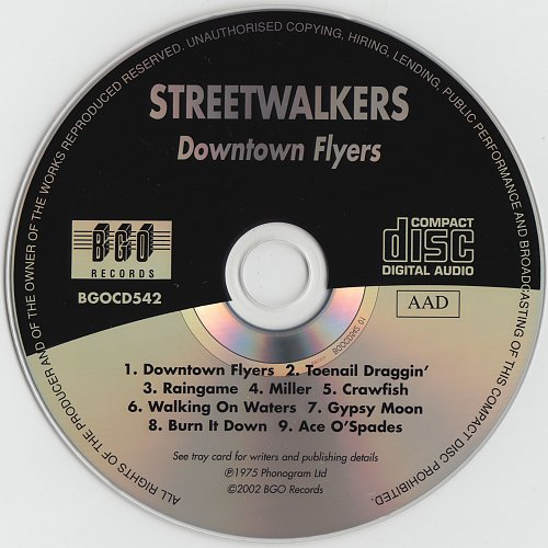 Streetwalkers - Downtown Flyers (1975)