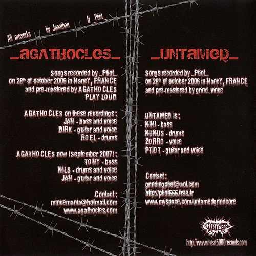 Agathocles / Untamed (2006/2008 Meat 5000 Records, France)
