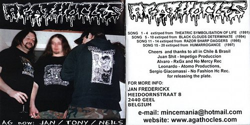 Agathocles (1991-1997) / Ruido Genital (2002) - Get Off Your Ass / In Noise We Noise (2007 Chile)