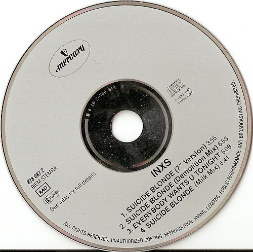 INXS - Suicide Blonde (1990, Maxi CD)