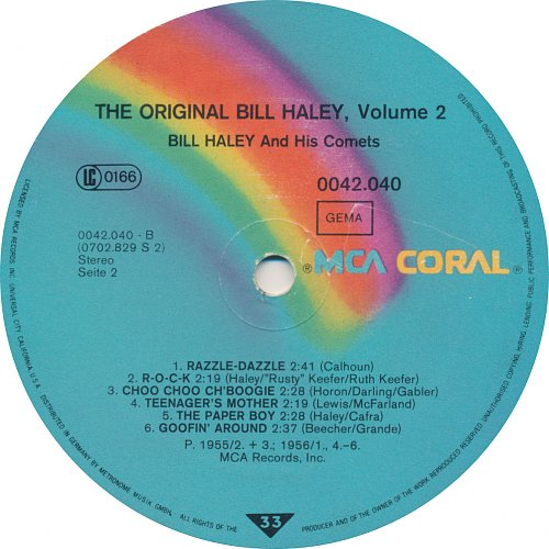 Bill Haley And His Comets - The Original Bill Haley, Volume 2