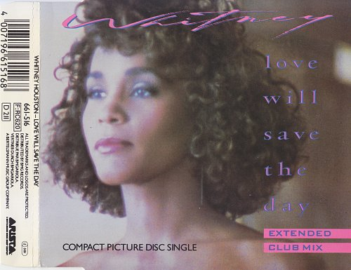 Whitney Houston - Love Will Save The Day (1988, CD-Single)