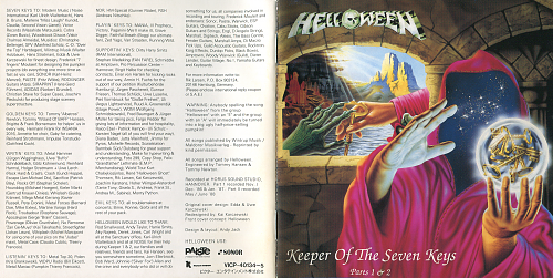 Helloween- Keeper Of The Seven Keys Parts I, II (Victor, VICP-40134~5, Reissue)