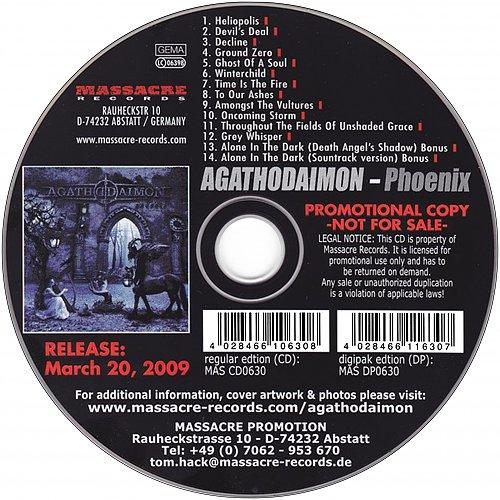 Agathodaimon - Phoenix (12 tracks) (2009 Massacre Records, SoulFood, Germany)