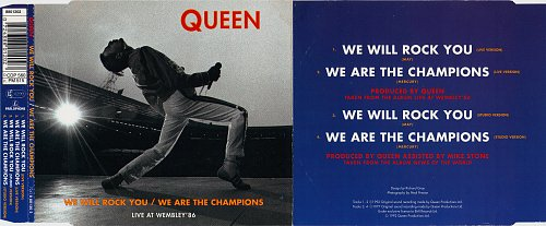 Queen - We Will Rock You. We Are The Champions (1992, Single)
