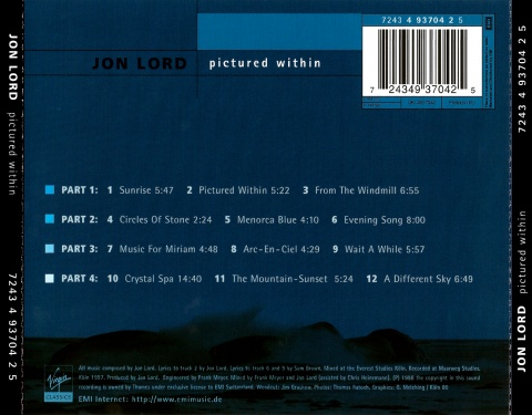 Jon Lord - Pictured Within(1998)