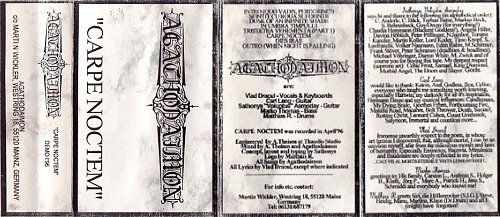 Agathodaimon - Carpe Noctem (1996 Headless Studio, Thaudio Studio, Germany)