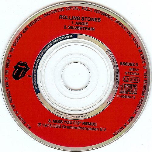 Rolling Stones, The - Angie (1990, Single)