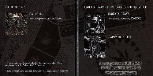 Catheter / Unholy Grave / Captain 3 Leg - HF.Seveninches.Collection.Vol.2 (2011 Dracma Rec's, Italy)