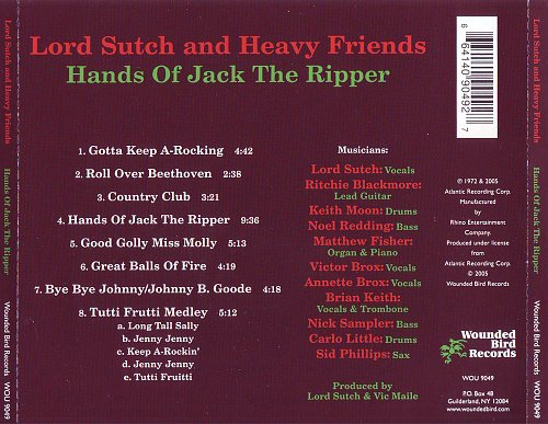 Lord Sutch And Heavy Friends - Hands Of Jack The Ripper (1972)