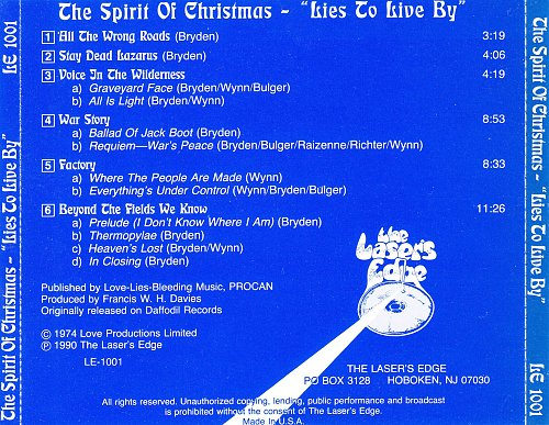 Christmas - The Spirit Of Christmas - Lies To Live By (1974)