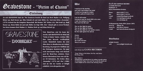 Gravestone - Victum In Chains (1984)
